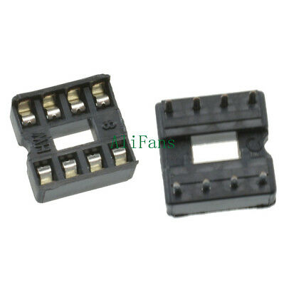 10/20/50/100PCS 8pin DIP IC Socket Adaptor Solder Type Socket Pitch Dual Wipe