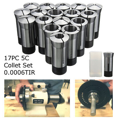 17Pcs 5C Imperial Round Collet Set High Precision Milling Engineering Lathe Tool