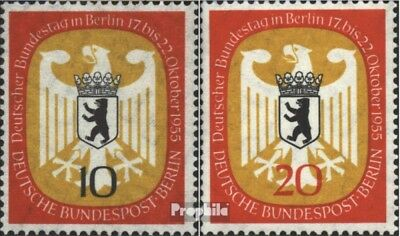 Berlin (West) 129-130 (kompl.Ausg.) FDC 1955 Bundestag