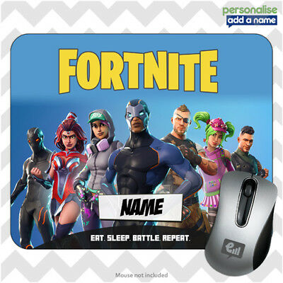 Fortnite Personalised Mouse Mat Pad Kids Pc Laptop