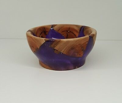 small handcrafted bowl, wood and resin