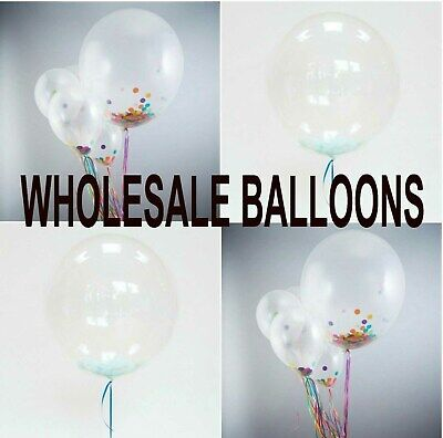 """36"""" INCH WHOLESALE Round Clear Transparent Big Giant Balloons Birthday Party"""