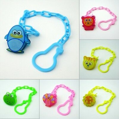Baby Pacifier Clip Chain Cartoon Animal Nipple Holder Soother Belt Teether Strap