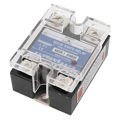 2X(MGR-1 D4825 Single-phase Solid State Relay SSR 25A DC 3-32 V AC 24-480 V O3J2