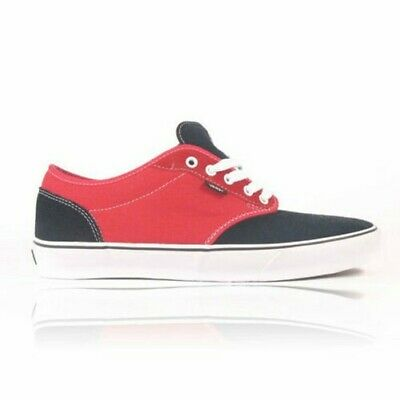 bbec8a5d7e Vans Atwood Youth Skate Shoes Black Red Kids Boys Trainers