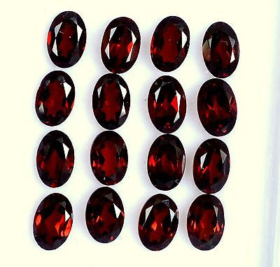Natural Red Garnet Oval Cut 6x4 mm Lot 16 Pcs 8.61 Cts Hot Red Loose Gemstones