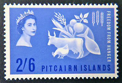 1963 Pitcairn Islands Pre Decimal Stamps: QEII Freedom from Hunger-Single 2'6MNG