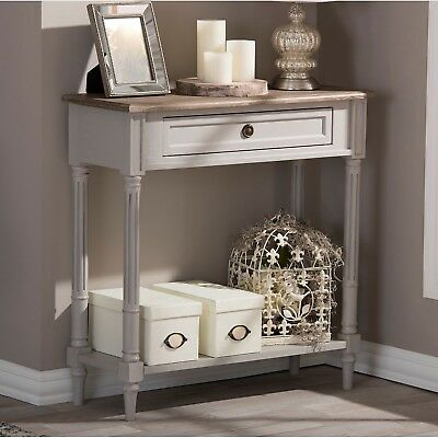 Baxton Studio Edouard French Provincial Distressed Console Table