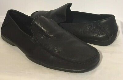 cf2338b77fa HUGO BOSS LOAFERS Moccasins Driving Shoes In Black Leather Size 11 ...