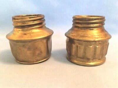 2 GUY'S DROPPER Bases for Miners Carbide Cap Lamps, Vintage Mining Parts, Used
