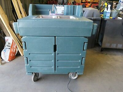 Portable Food Truck Trailer Concession Sink Hand Wash 2 Compartment Hot Water