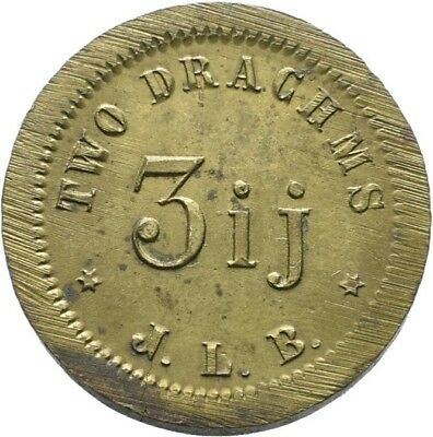 LANZ Great Britain Apothecaries Weight 2 Drachms J L B Brass Messing :MA1699