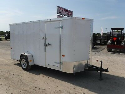 6X12 Cargo Enclosed Motorcycle ATV Rally Race Equipment TX ARK OK NM Trailer!!!!