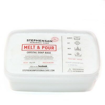 Melt and Pour Soap Base - Solid Shampoo SLS FREE - 1Kg (SOAP1KSOLISHAM)