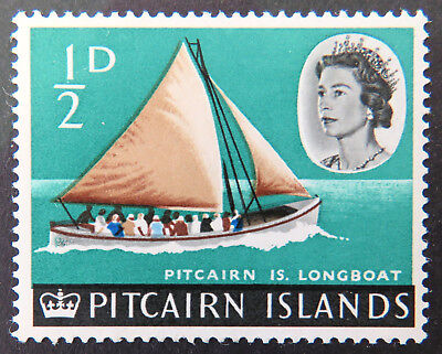 1964-65 Pitcairn Islands Pre Decimal Stamps: Pitcairn Is Definitives - 1/2d MNH