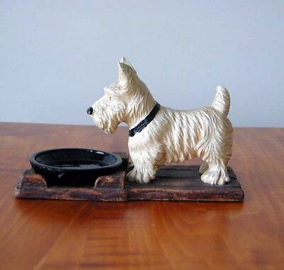 1930 Scotty Scottie Dog Sirocco Wood Tip, Coin, Pin Or Trinket Dish