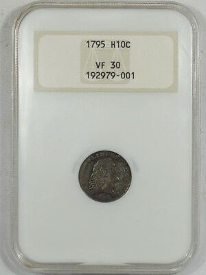 1795 Flowing Hair Half Dime Ngc Vf-30 Premium Quality! Old Fatty