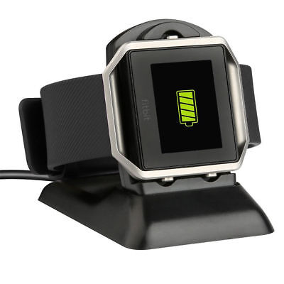 2 in 1 Cradle Cable Dock USB Charging Holder Charger For Fitbit Blaze Watch New