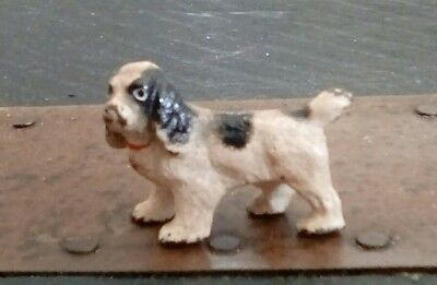 VTG Painted HUBLEY Cast Iron SPANIEL Dog Metal Paperweight