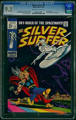 Silver Surfer #4 CGC NM- 9.2 Off White to White