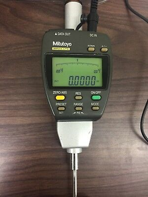 MITUTOYO Absolute Digital Drop Indicator 543-554-1 Model ID-F150E w/power supply