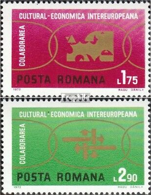 Romania 3020-3021 mint never hinged mnh 1972 INTEREUROPA