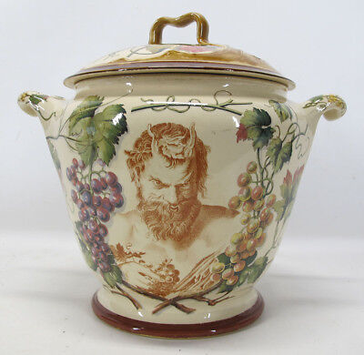 Rare! Antique German Two Handled Covered Bacchus & Ariadne Motif Soup Tureen yqz