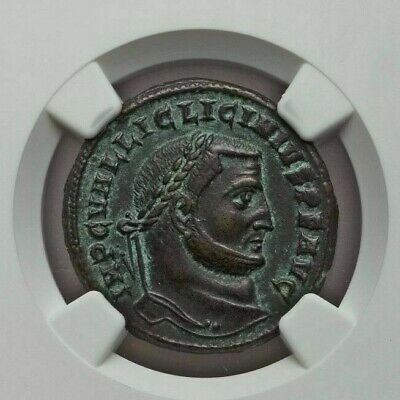 ROMAN IMPERIAL: Licinius I (6.98g). BI follis or reduced nummus, NGC XF 5/5, 4/5