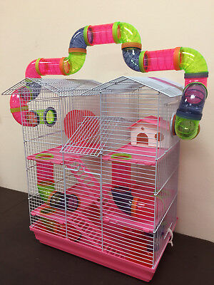 5 Level Large Twin Towner Hamster Habitat Rodent Gerbil Mouse Mice Rats Cage 157