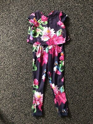 Girls Ted Baker Floral Jumpsuit - Size 6-7yrs