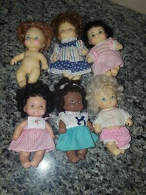 vintage baby dolls lot of 6 rubber