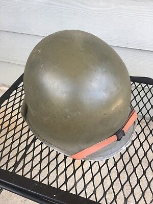 WWII United States Army M1 Helmet With Complete Liner
