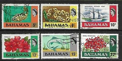 BAHAMAS A part set of (6) stamps 0f 1971