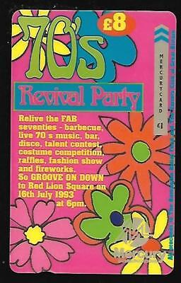MER452 70's REVIVAL PARTY WITH MEAL TICKET MERCURY PHONECARD SEALED