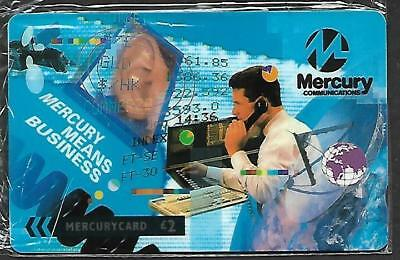 Mer552 Mercury Means Business (5) Mint Sealed Phonecard