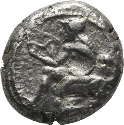 Lanz Greek Cilicia Soloi Stater Amazon Grape Bunch Fly Satyr Silver ±Bec1331
