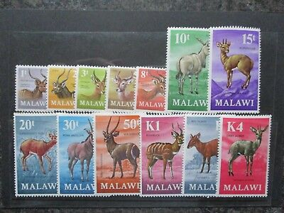 Malawi 1971 Antelopes Definitive Set (Decimal Currency). MNH.