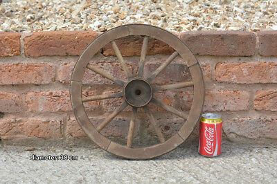 Vintage old small wooden cart wagon wheel  / 38 cm - FREE DELIVERY