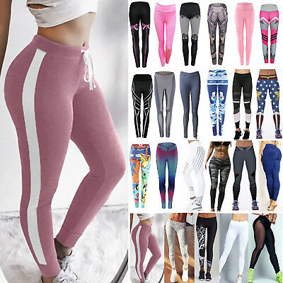 Damen Stretch Leggings Leggins Sporthose Yoga Fitnesshose Jogginghose Tracksuit