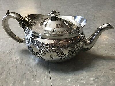 Antique MH&Co (Martin&Hall ca.1854) Hard Soldered 4 cup Teapot EPGS #102645