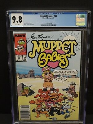Marvel Comics Muppet Babies #23 1989 Cgc 9.8 White Pages Marie Severin Art/cover