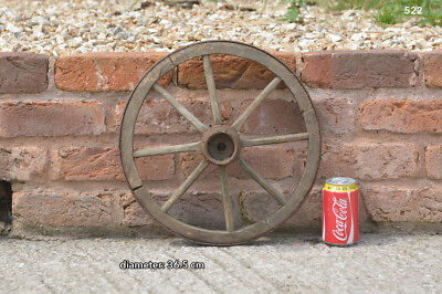 Vintage old wooden cart wagon wheel  / 36.5 cm FREE DELIVERY