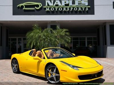 458 Spider 2014 Ferrari 458 Spider F1, Navigation, Yellow Calipers, Super Low Miles!