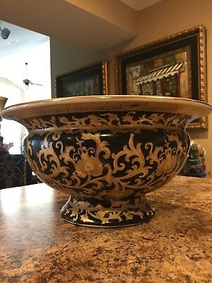 Large Chinese hand painted Bowl Centerpiece