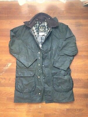 Barbour Border mens waxed cotton jacket size 38 med