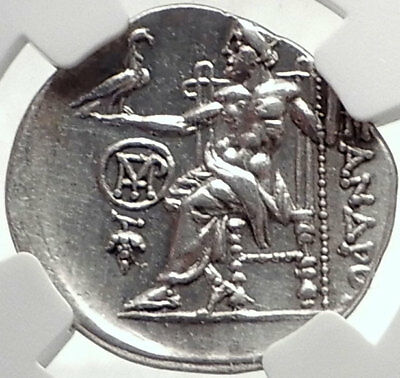 CHIOS Ionia Greek Island Ancient Silver Coin ALEXANDER III the GREAT NGC i70333