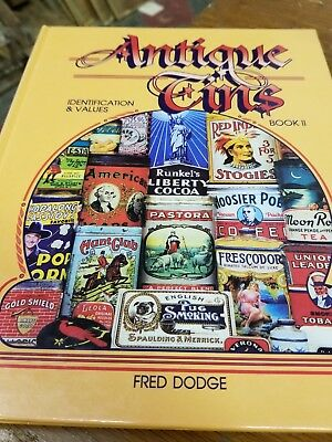 Antique Tins Collector Book Identification Price Guide Fred Dodge #2 Hard Back