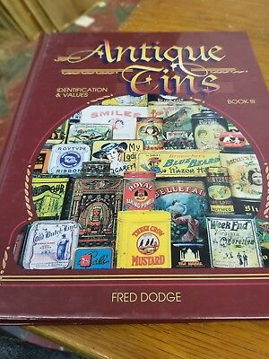 Antique Tins Collector Book Identification Price Guide Fred Dodge #3 Hard Back