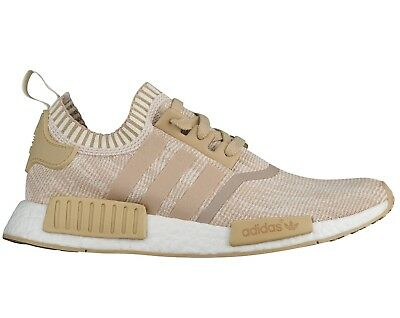 6ceb87889a7eb Adidas NMD R1 Primeknit Mens BY1912 Linen Khaki Off White Running Shoes  Size 9