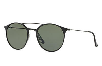 49eb7ccfa8 Ray Ban RB3546 186 9A Black Frame Green Polarized G15 49MM Lens Sunglasses